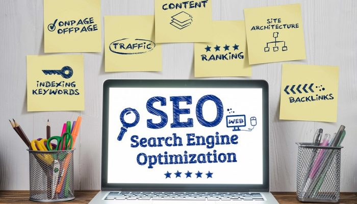 SEO company - Laptop with SEO information