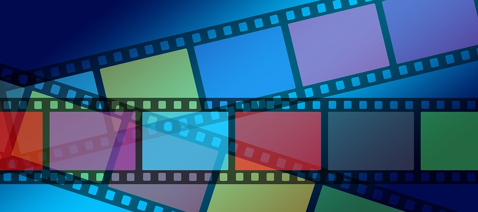 Video Advertising Trends - Colored Film Strips
